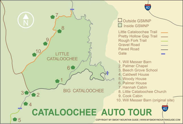 Cataloochee Valley Map | Great Smoky Mountains National Park