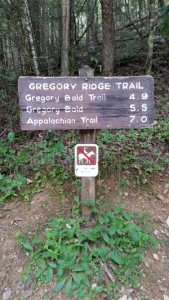 Gregory Ridge Trail Signage | 38 Popular Day Hikes | My Smoky Mountain Guide