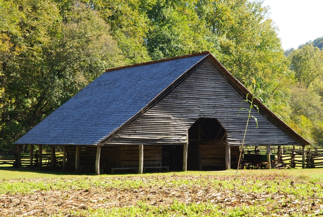 Original Historic Barn | Oconaluftee Mountain Farm Museum