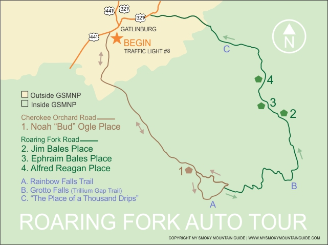 Roaring Fork Motor Nature Trail Roaring Fork Auto Tour