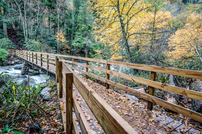 Bridge on Chimney Tops Trail | Great Smoky Mountains National Park