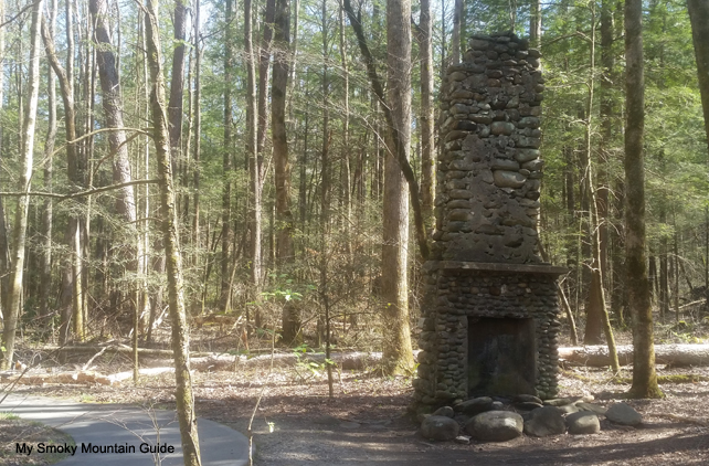Chimney Next to Trail | Sugarlands Valley Nature Trail | Great Smoky Mountains National Park