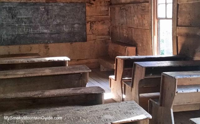 Little Greenbrier Schoolhouse | Interior | Metcalf Bottoms Trail