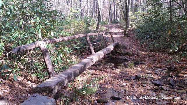 Metcalf Bottoms Trail | Log Footbridge | Great Smoky Mountains National Park