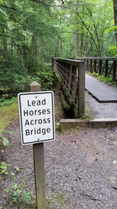 Lead Horses Across Bridge | Middle Prong Trail | My Smoky Mountain Guide