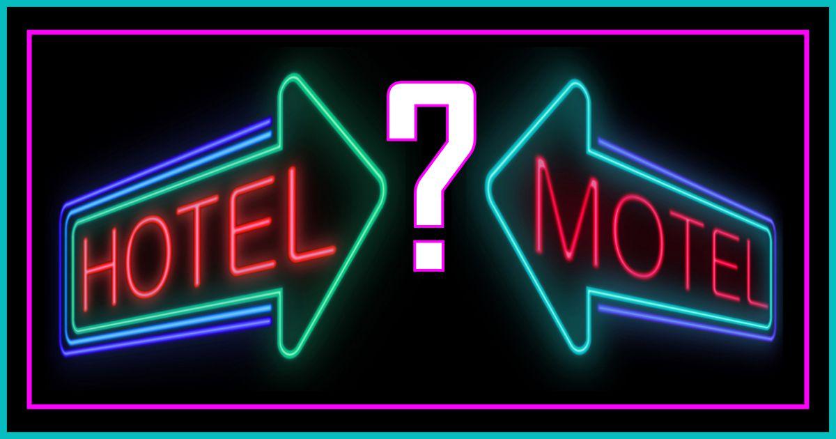 """Résultat de recherche d'images pour """"motel hotel différence"""""""