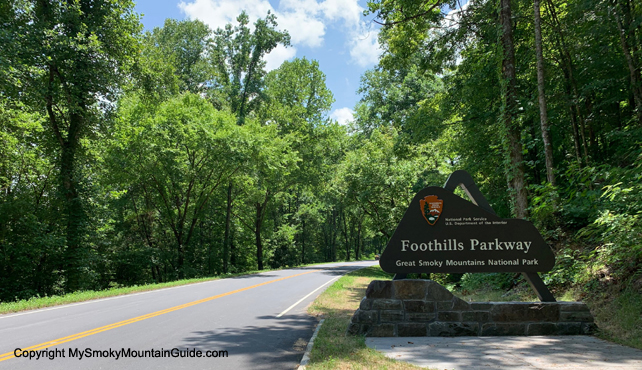 New Entrance Sign to Foothills Parkway | Walland to Sevierville