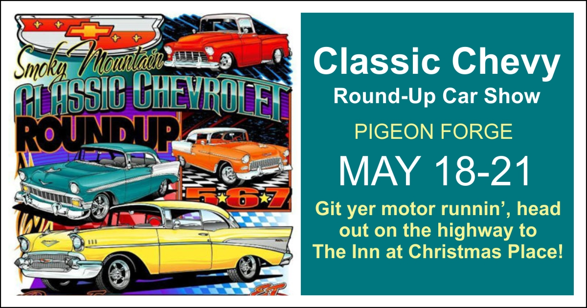 Classic Chevy RoundUp Car Show Pigeon Forge Tennessee - Gatlinburg car show