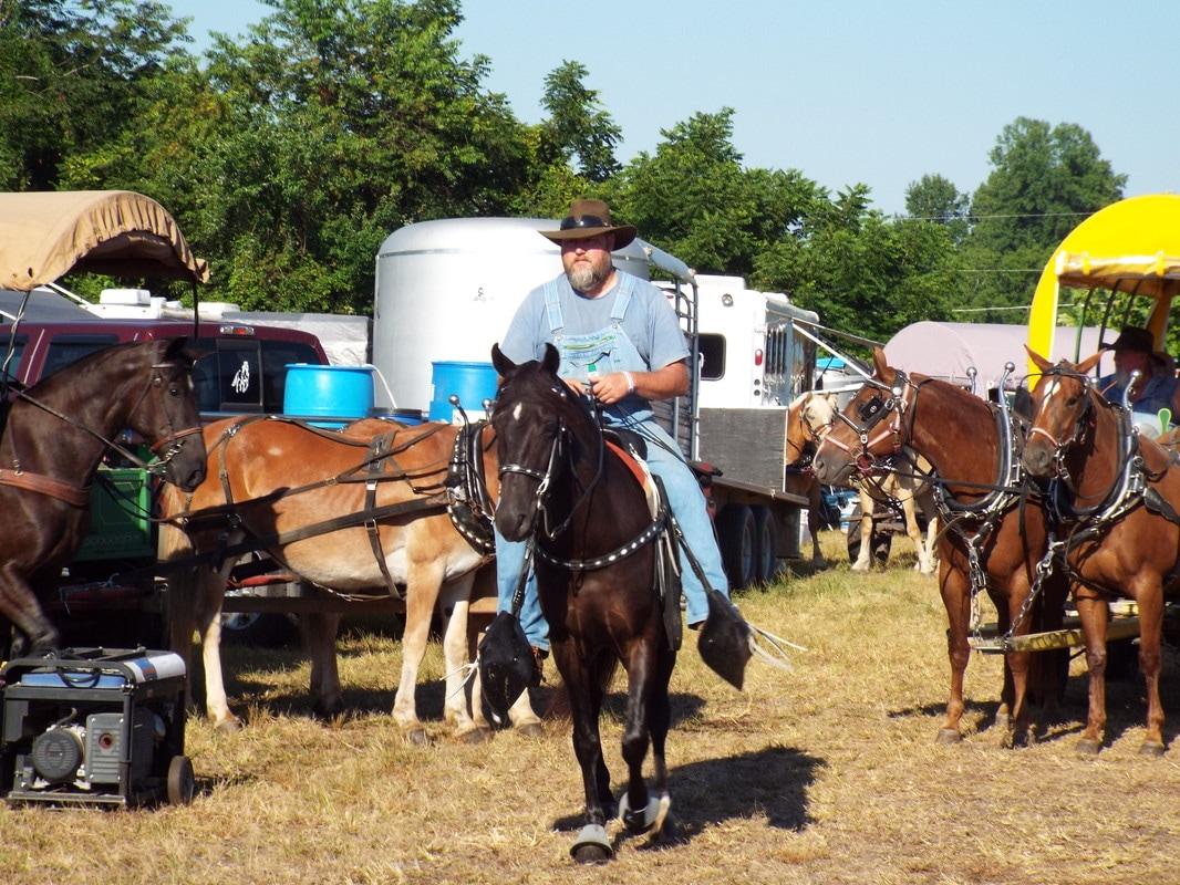 Horse Riders at Western North Carolina Wagon Train