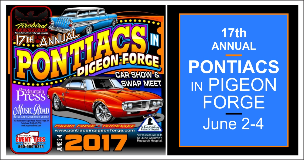 Pontiacs In Pigeon Forge Car Show Pigeon Forge Tennessee - Gatlinburg car show
