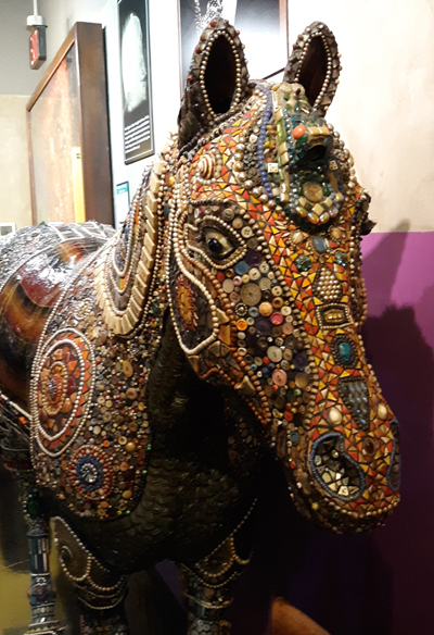 Beaded Horse Made from Beach Baubbles