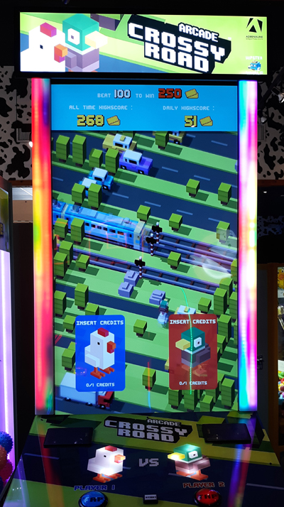 Crossy Road Video Game at Ripley's Super Fun Zone Arcade
