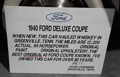 1940 Ford Deluxe Coupe Info