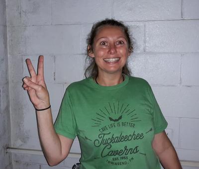 Brandie the Guide at Tuckaleechee Caverns