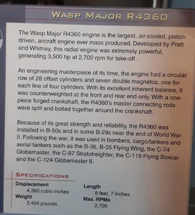Wasp Major R4360 Info