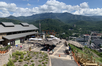 View from the Top of Gatlinburg Skybridge