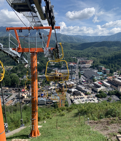 Skylift from the Top of Gatlinburg