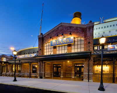 Titanic Pigeon Forge Ticket Office and Entrance